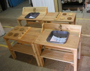 Childrens mud play Kitchens